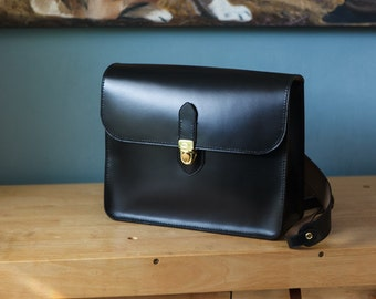 Black backpack, horween chromexcel horsehide, made in usa, Jacobson leather, handsewn