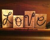 L O V E spells Love!