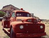 65% OFF Fire Engine Art - Antique Red Fire Engine - Vintage Fire Truck - 8x10 Fine Art Photography