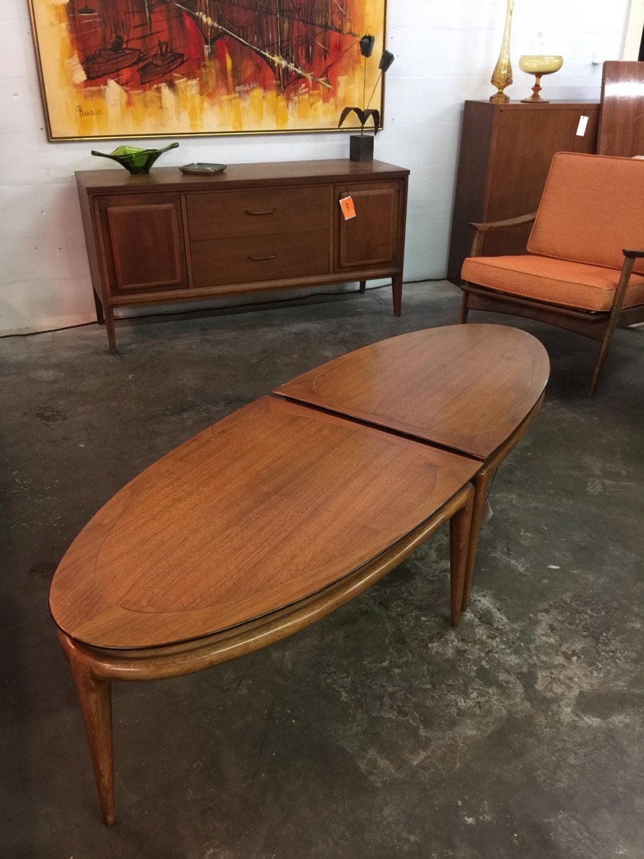 Mid Century Modern Segmented Walnut Coffee Table