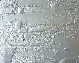 "Original abstract painting ""Silvera"" 15,7 in x 15,7.Minimalist Art"