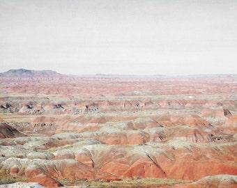 Desert Photography Print 11x14 Fine Art Arizona Painted Desert Red Rock Mountains Southwest Winter Landscape Photography Print.