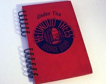 1940 REDWOOD TREES Handmade Journal Vintage Upcycled Book Travel Journal