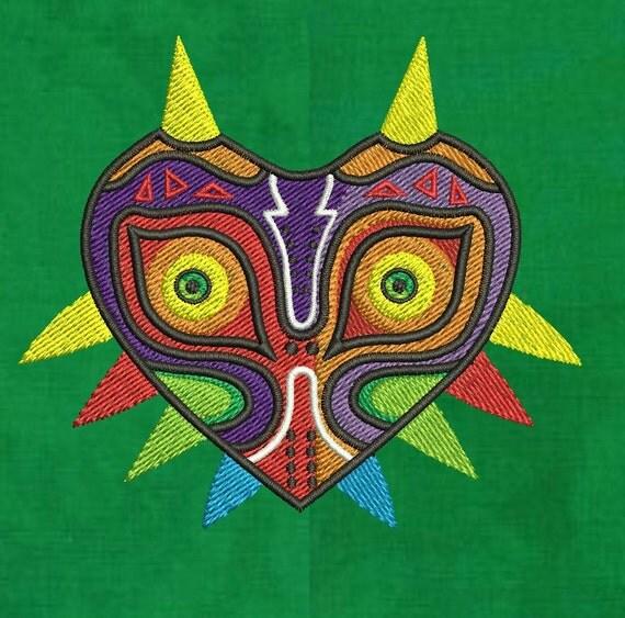 Zelda Machine Embroidery Design Majora39s Mask 4x4