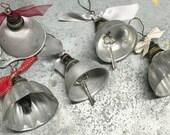 Vintage Repurposed Tin Bells