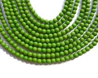 Avocado Green Howlite - 6mm Rounds - 65 beads - Full Strand