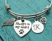 pet memorial jewelry, pet loss gift, pet memorial bracelet, personalized sympathy gift, cat memorial dog memorial jewelry, loss of pet