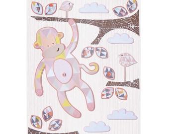 Monkey Print - Pink