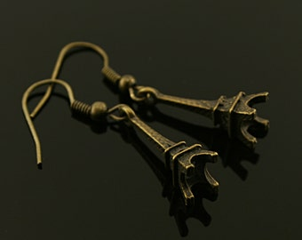 Antique bronze Paris The Eiffel Tower earrings