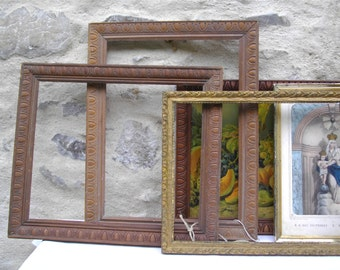 5 French Late 19 Th Antique Wood Frame  - French Frame - French Home Decor, french