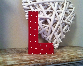 Hand-painted Wooden Letter, L - Freestanding - Ariel Font - Various sizes, finishes and colours - 30cm