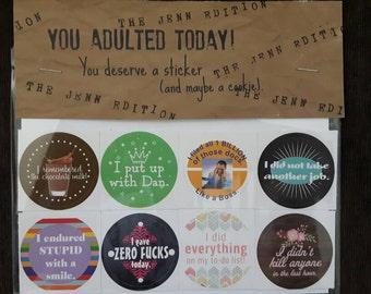 Adulting Reward Stickers The Jenn and Dan Edition (Custom)