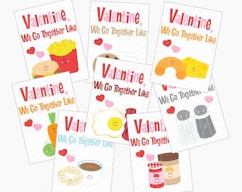 perfect pairs valentines cards digital printable - Perfect Pairs Valentines Printable