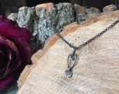 Whimsy Mermaid Inspried organic charm necklace - sterling silver and one of a kind