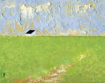 The Field Path — Oil Painting, Landscape Oil Painting, Original Landscape Painting, Oil Painting, Abstract Painting, Fine Art, 5 x 7