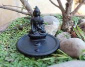100% Terracotta Buddha Statue Incense Holder/Burner Handmade In Nepal, Prayer, devotion, meditation, All Natural, Pottery