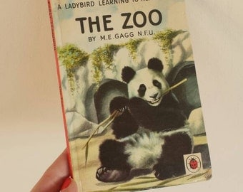 The Zoo panda Notebook handmade from a vintage Ladybird Book