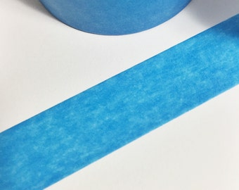 SALE Bright Solid Blue Washi Tape 11 yards 10 meters 15mm