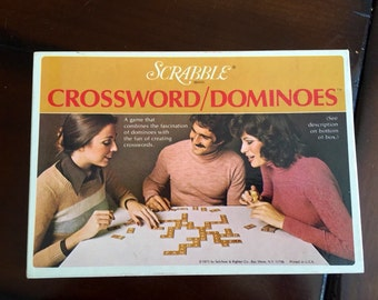 Vintage 1975 Scrabble Crossword Dominos Game Game Room Ephemera