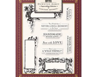 Crafters Companion Downton Abbey - Clear Stamp Sentiments 1