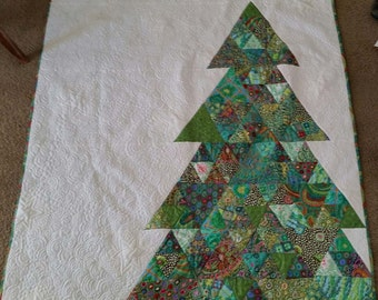 "Oh Christmas Tree  49"" X 59"" Quilt, Throw,  Wall Hanging - Kaffe Fassett Collective Fabrics - READY TO SHIP"