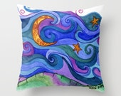 Throw Pillow printed with Dreaming Original Artwork