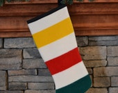 Christmas Stocking made of the Glacier National Park Blanket fabric Lodge Rustic holiday decor Christmas decoration stocking