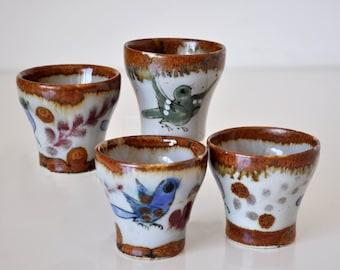 Vintage Ken Edwards Ceramic Shot Glasses