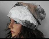 Eco Felted Hat Felt Grey, merino Wool ecology , winter hat