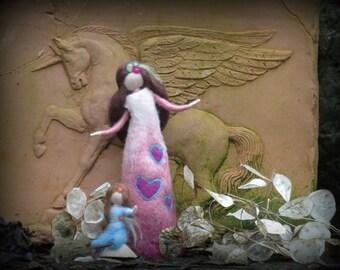 Elsa & Elina felted figures, Waldorf inspired