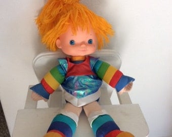 1983 Rainbow Brite Doll-Large 18 inch-vintage Hallmark-Colorful Girls toy-millenial gift-rainbow doll-red orange yellow green blue violet