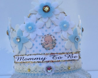 Hand made crown, Baby shower crown, Special occasion party, Custom made