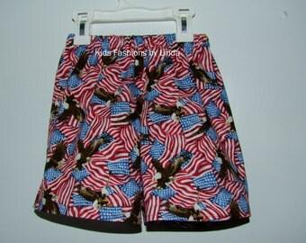 American Flag/Eagle Shorts