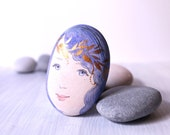 Painted stone. Ready to ship painted pebble. Beach pebbles art .Free shipping
