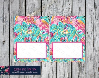 Lilly Pulitzer Peel and Eat Place Cards Food Tents Food Labels Folded Cards Table Tents