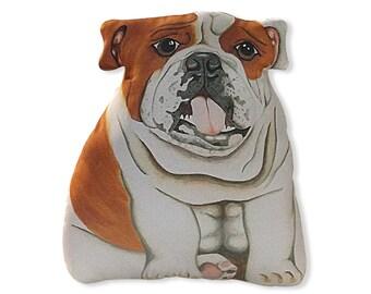 English Bulldog Stuffed Animal -  large stuffed bulldog