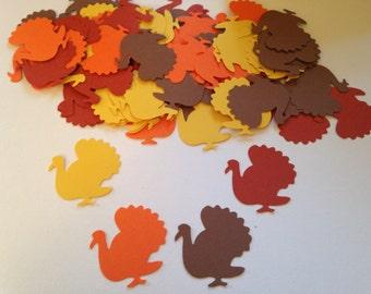 50 Turkey Cut Outs, Turkey Confetti, Thanksgiving Confetti, Thanksgiving Cut Out, Thanksgiving Decor, Fall Confetti, Turkey Cut Out