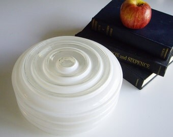 Vintage, School House, Glass Light Shade, Mid Century, Ceiling Shade, Glass Shade, White