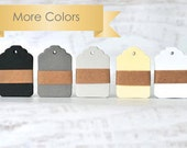 READY TO SHIP | Mini scalloped top mini tag die cuts choose your colors. Wedding tags white | ivory | gray