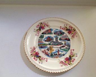 Maine Souvenir Plate