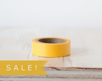 Solid Yellow Washi Tape - SALE!