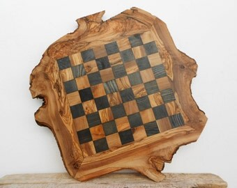 Dad gift, Grandad Gift, Father's Day Gift, Grandpa Gift, Olive Wood Chess Board Set with Free Chess Pieces