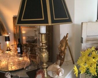 """Vintage Brass """"Spindle""""  Lamp"""