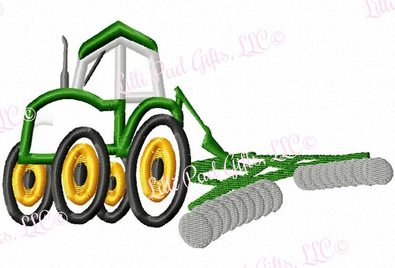 Embroidery Of Tractors : Tractor with plow applique machine embroidery design