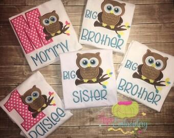 Owl Birthday Shirt Or Family Shirts
