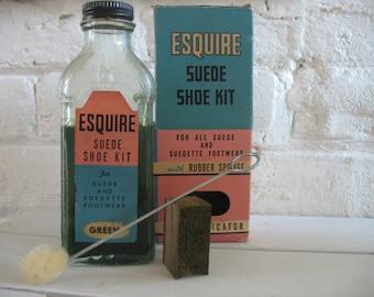 Vintage Esquire Suede Shoe Kit