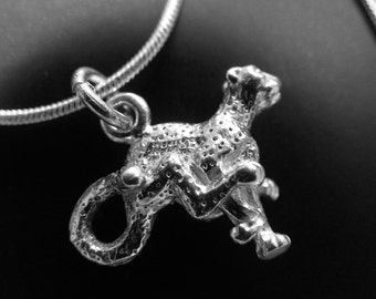 cheetah pendant 925 sterling silver with 925 chain