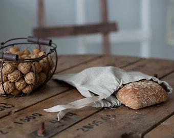 Linen Bag for Bread - Natural Linen Bread Bag - Reusable Bread Keeper - Natural linen bag - 30x30 cm