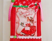 SALE  Retro Inspired Christmas Wall Decoration