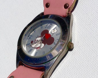 Minnie Mouse watch Vintage Walt Disney Watch Silver Toned